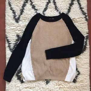Express color block sweater M